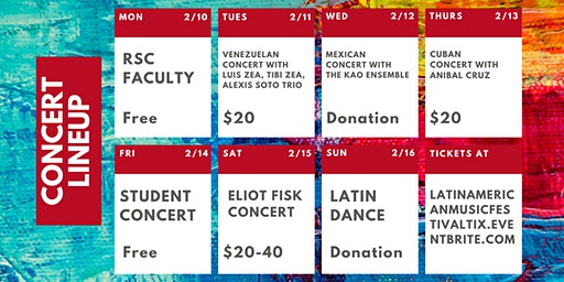 Concert Tickets for the Latin American Music Festival