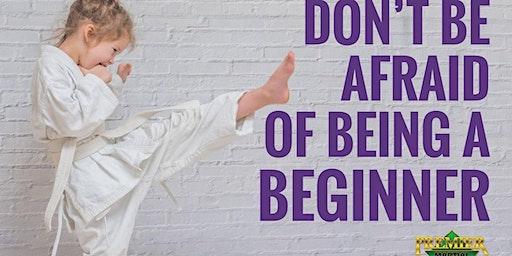 Beginners Karate class for kids 5-12