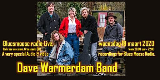 Dave Warmerdam band live at Bluesmoose radio (audio and video recordings)