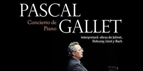 Concierto de piano de Pascal GALLET entradas