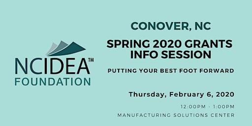 NC IDEA Spring 2020 Grants Information Session (Conover)