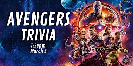 Avengers Trivia - March 3, 7:30pm - Stonewalls Hamilton tickets