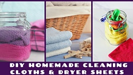 DIY Homemade Cleaning Cloths & Dryer Sheets