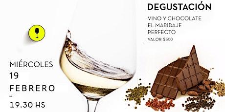 Fusión vino y chocolate! entradas