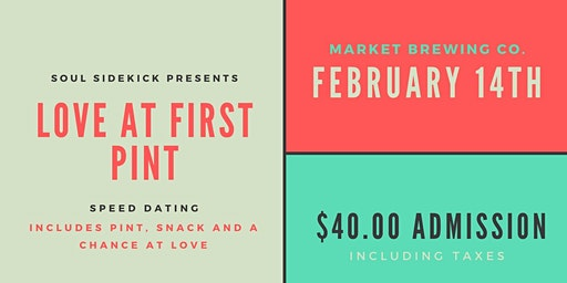 Soul Sidekick Speed Dating: Love at First Pint - Market Brewery (30-45)