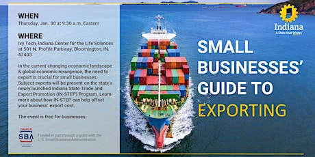 Small Businesses' Guide to Exporting - South Central Indiana tickets