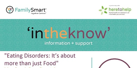 """""""Introduction to Eating Disorders: It's Not Just About Food"""" tickets"""