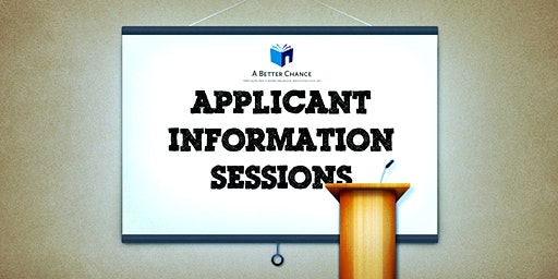 Applicant Information Session #1 | Oakland, CA