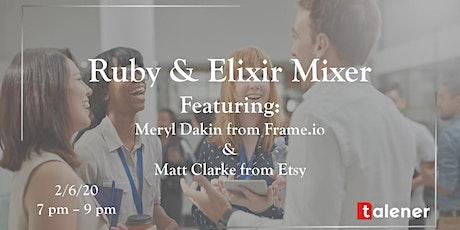 Ruby & Elixir Mixer tickets