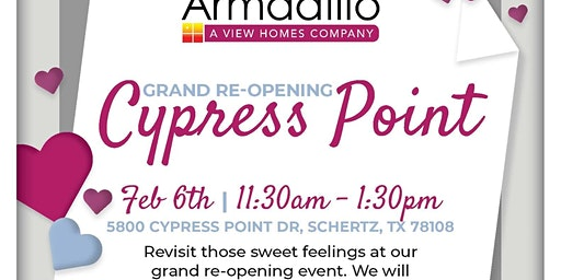 Cypress Point Re- Grand Opening: Fall in LOVE!