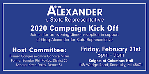 Greg Alexander's Campaign Kick-Off