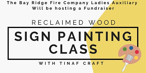 Reclaimed Wood Sign Painting Class