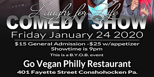 Copy of Laughs for Life Comedy Show