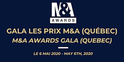 Gala les Prix M&A / M&A Awards Gala (Québec)