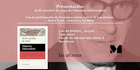"""Presentació del llibre """"16 de octubre de 1943"""" entradas"""