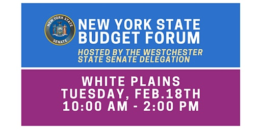 Budget Forum in WP Hosted by the Westchester State Senate Delegation