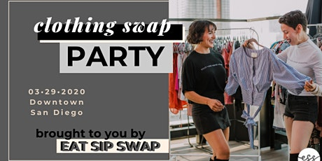 EAT SIP SWAP clothing swap tickets