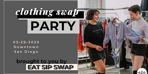 EAT SIP SWAP clothing swap