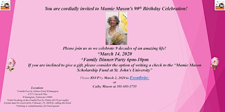 Mamie Mason's 90th Birthday Celebration by Mason Family tickets