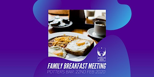 Joshua's Army Family Breakfast Meeting
