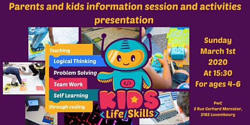 Coding and logical thinking for 4-6 yo kids! Parents & Kids info session