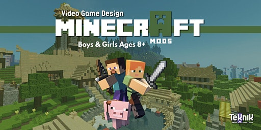 Minecraft CODING Mods Class! Video Game Design for Kids