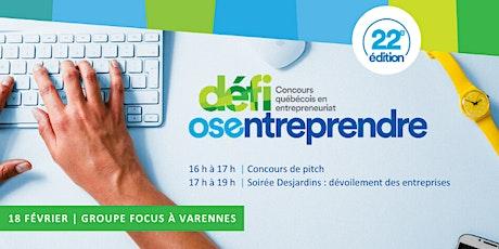 Soirée Desjardins des nouvelles entreprises (MRC de  Marguerite-D'Youville) billets