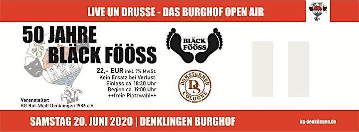 Burghof Open Air 2021 mit den Bläck Fööss und den Domstürmern: Bild