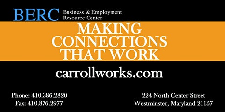 Carroll County Maryland Job Club tickets