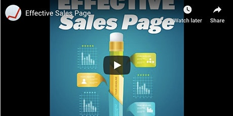 Effective Sales Page - Instant Access Video Masterclass tickets