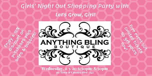 Girls' Night Out and Shopping Party at Anything Bling