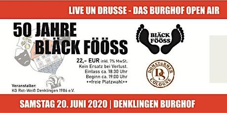 Burghof Open Air 2021 mit den Bläck Fööss und den Domstürmern Tickets