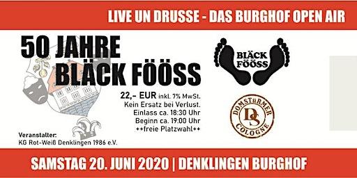 Burghof Open Air 2020 mit den Bläck Fööss und den Domstürmern