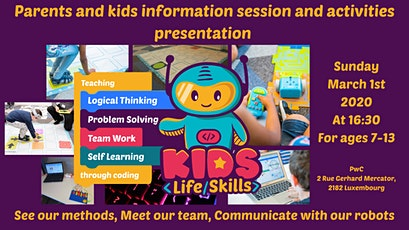 Coding and logical thinking for 7-13 yo kids! Parents & Kids info session tickets