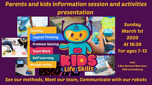 Coding and logical thinking for 7-13 yo kids! Parents & Kids info session