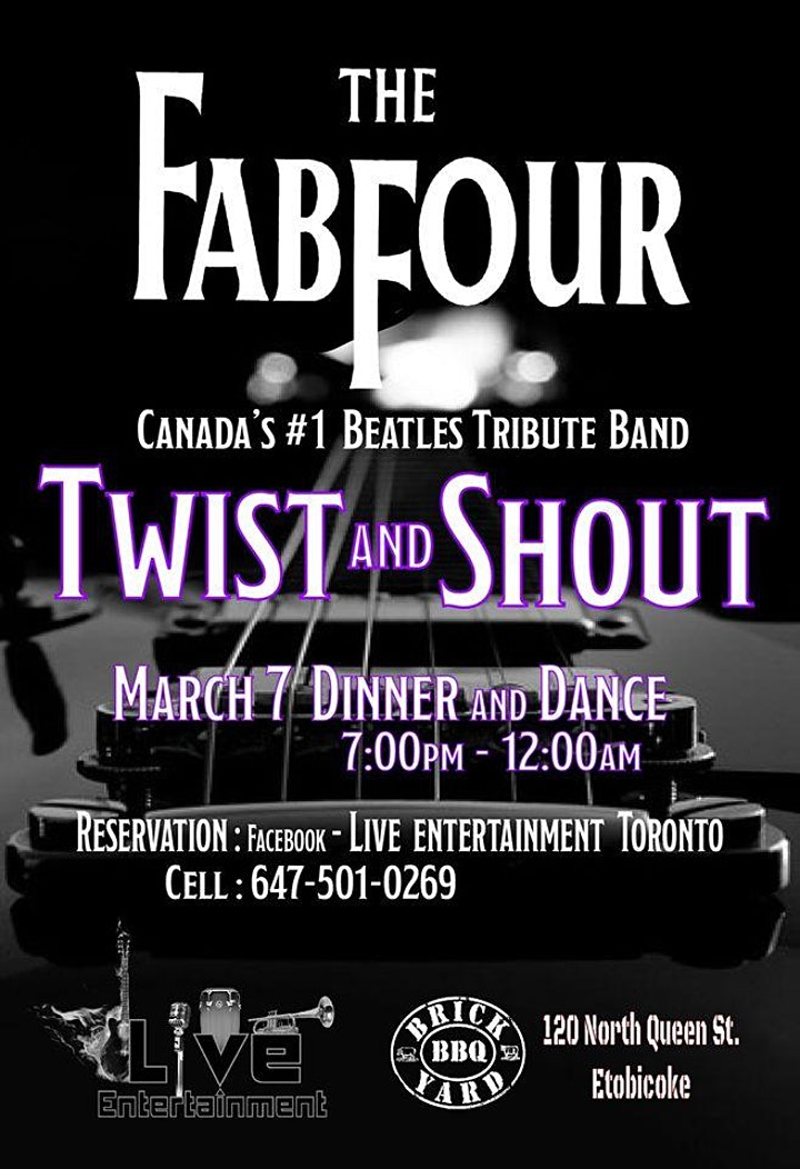 THE FAB FOUR  Dinner, Show and Dance  (Canada's #1 Beatles Tribute Band) image