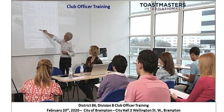District 86, Division B Club Officer Training tickets