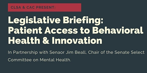 Briefing & Lunch: Patient Access to Behavioral Health Care and Innovation