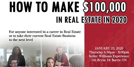 How To Make $100,000 in Real Estate in 2020 tickets