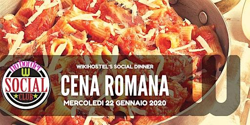 Cena Romana al Wiki Hostel Social Club: sostanziosa, genuina... conviviale!