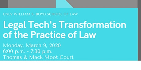 Legal Tech's Transformation of the Practice of Law tickets