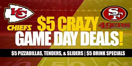 The Butcher's Tap $5 Game Day Deals!