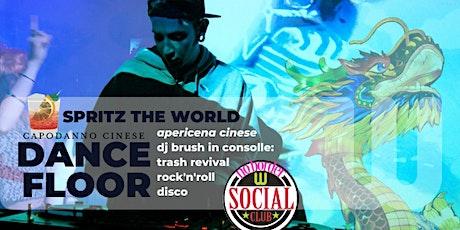 SpritzTheWorld_:  apericena e dancefloor fino a notte con dj Brush! biglietti