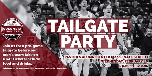 Columbia Gamecocks Men's Basketball Tailgate Party