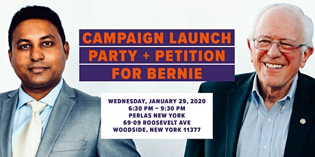 Joy for AD 34 Campaign Launch Party + Petition for Bernie tickets