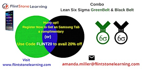 Combo Lean Six Sigma Green Belt & Black Belt Certification Training in Williston, ND tickets