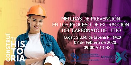 """""""Formación de profesionales en Procesos de extracción de Carbonato de Litio Nivel Inicial"""" entradas"""