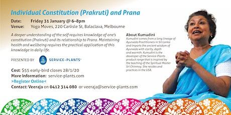 Individual Constitution (Prakruti) and Prana tickets
