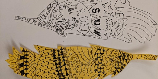 Sip and Sketch: Feather Zentangle with Kate Crouch