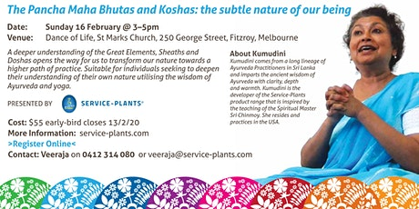 The Pancha Maha Bhutas and Koshas: the subtle nature of our being. tickets